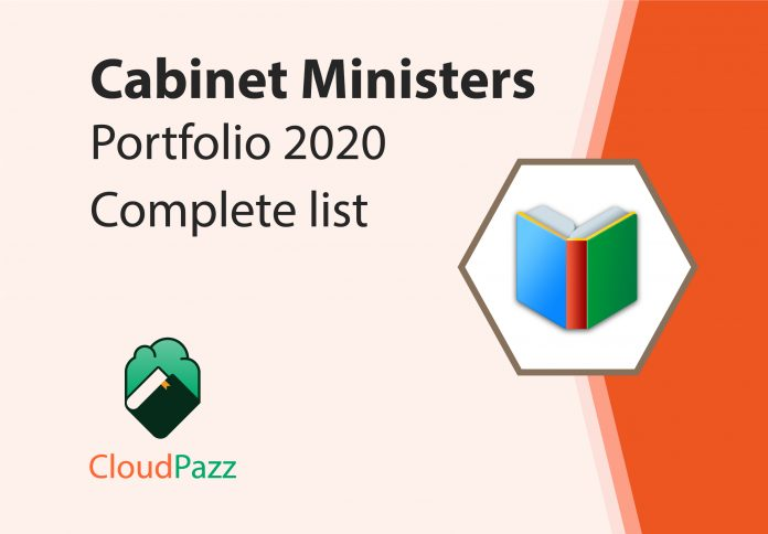 cabinet ministers of india 2020