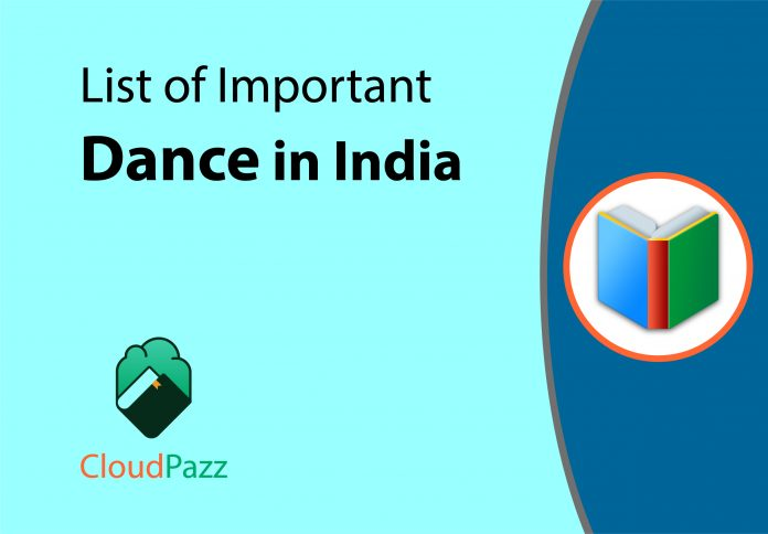 list of important dance forms in india