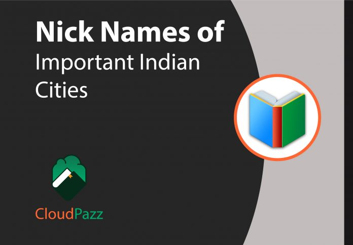 nicknames of important indian cities