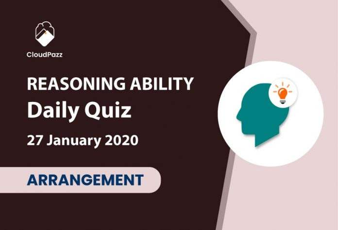 reasoning ability daily quiz 27 january 2020