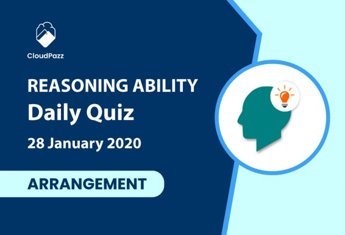 reasoning ability daily quiz 28 january 2020