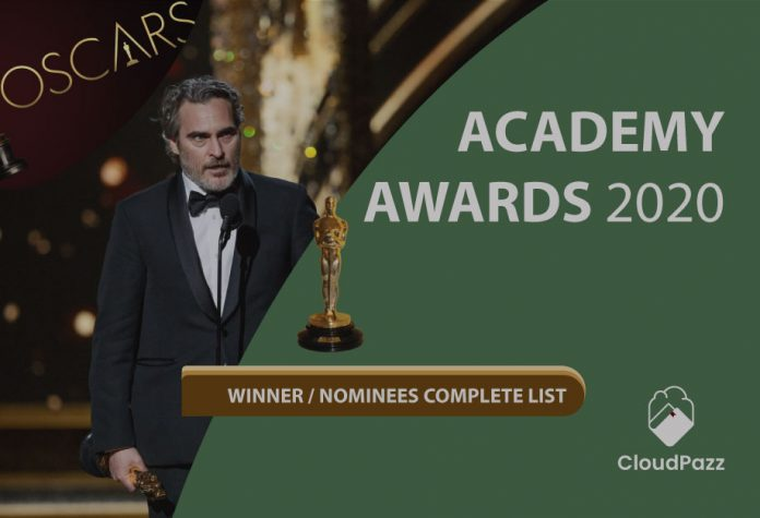 oscar awards 2020 complete winners list