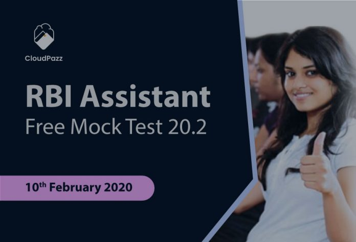 rbi assistant prelims free mock test